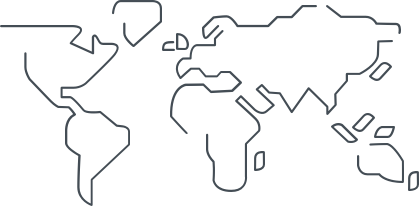 simplified illustration of a world map