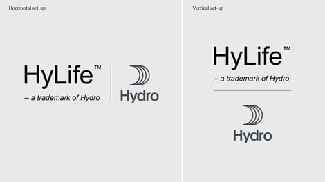 Examples of Hylife trademark alongside hydro logo with sail