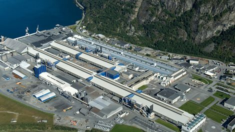 aerial view of sunndal plant