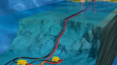 cut through illustration of sea bed drilling activity